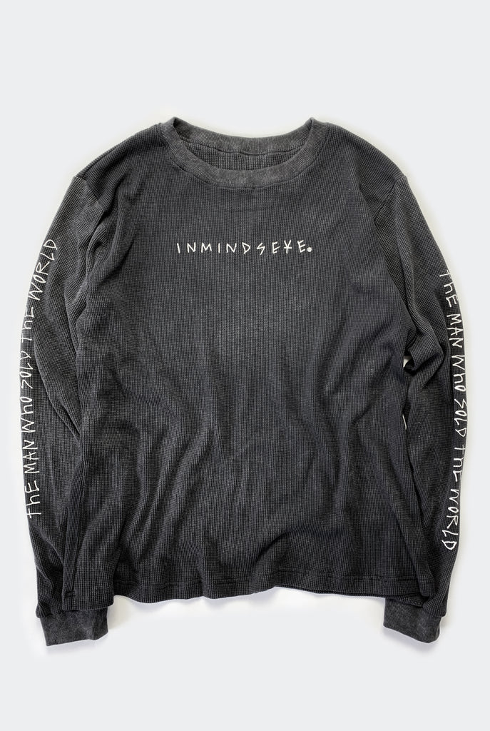 "THE MAN L/S TEE / WASHED BLACK ""unisex"""