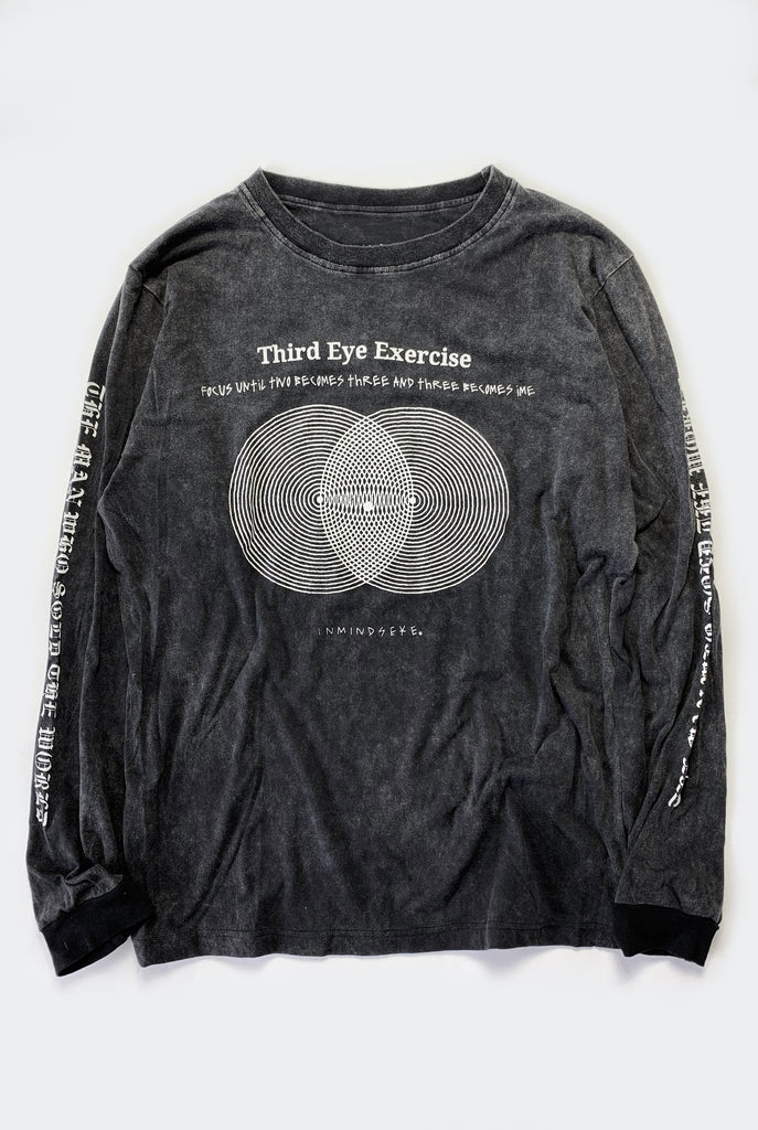 "THIRD EYE L/S TEE / WASHED BLACK ""unisex"" PREORDER"