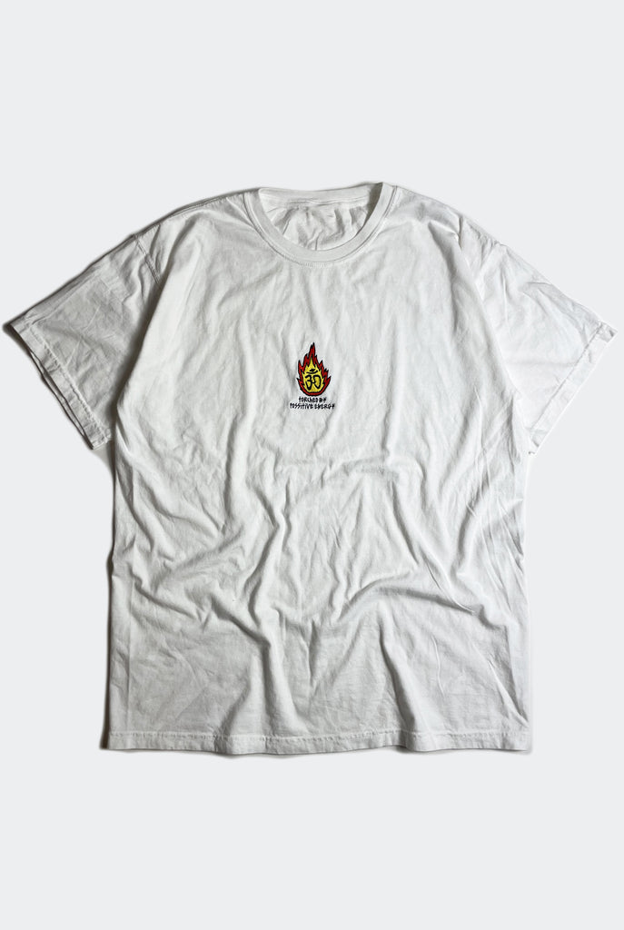 TORCHED TEE / VINTAGE WHITE
