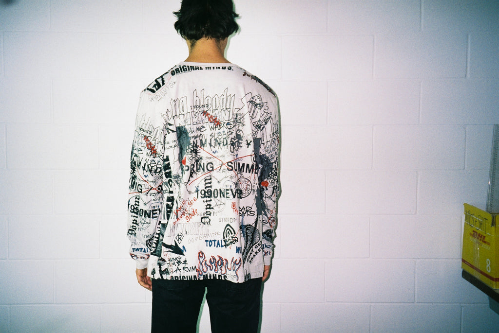 TOTALLY WIRED L/S TEE  / DIRTY WHITE