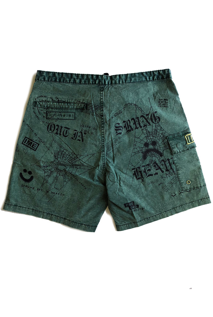 STRUNG OUT trunk / washed green