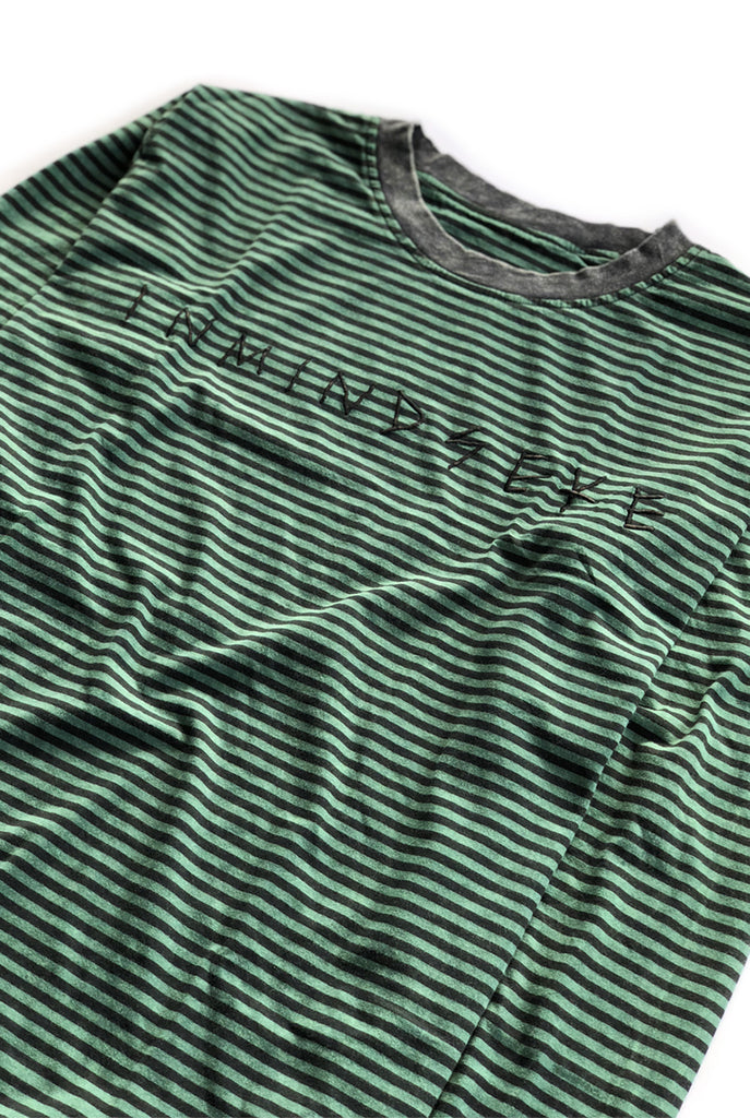 TEAM STRIPE 2.0 tee / washed forest green