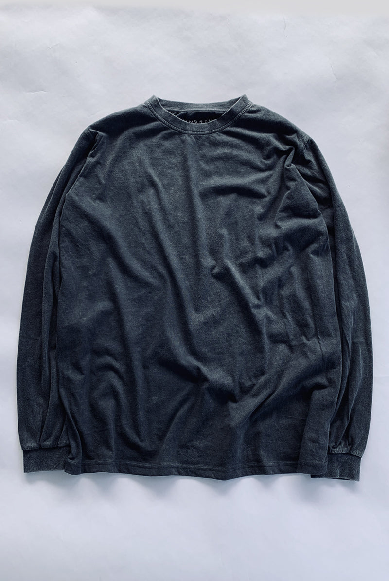 "EARTHCORE L/S TEE / WASHED BLACK ""unisex"""