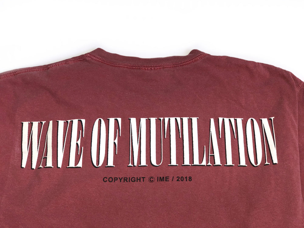 "TEENAGE MUTILATION tee ""overdyed red"""