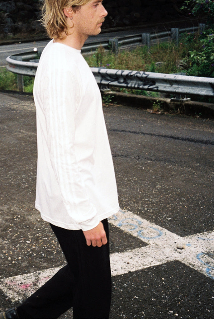 "LINES L/S tee ""off white"""