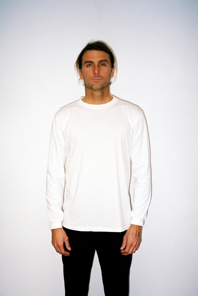 "EARTHCORE L/S TEE / NATURAL WHITE ""unisex"""