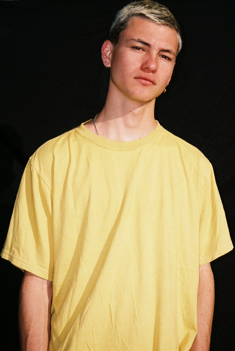 "EARTHCORE TEE / WASHED MUSTARD ""unisex"""