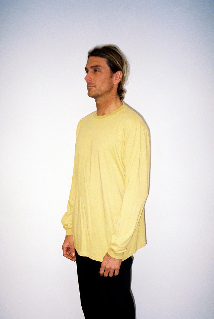 "EARTHCORE L/S TEE / WASHED MUSTARD ""unisex"""
