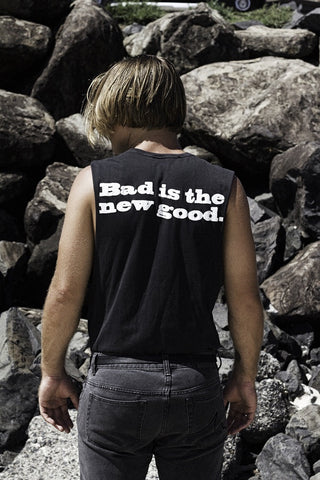 "bad vibes tank / band tee black ""unisex"""