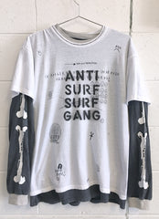 ANTI SURF DOUBLE TEE / custom tee 1 of 1
