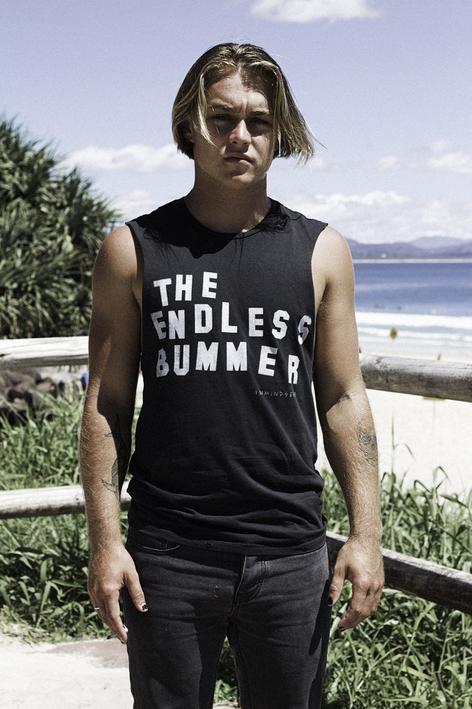 "the endless bummer tank / band tee black ""unisex"""
