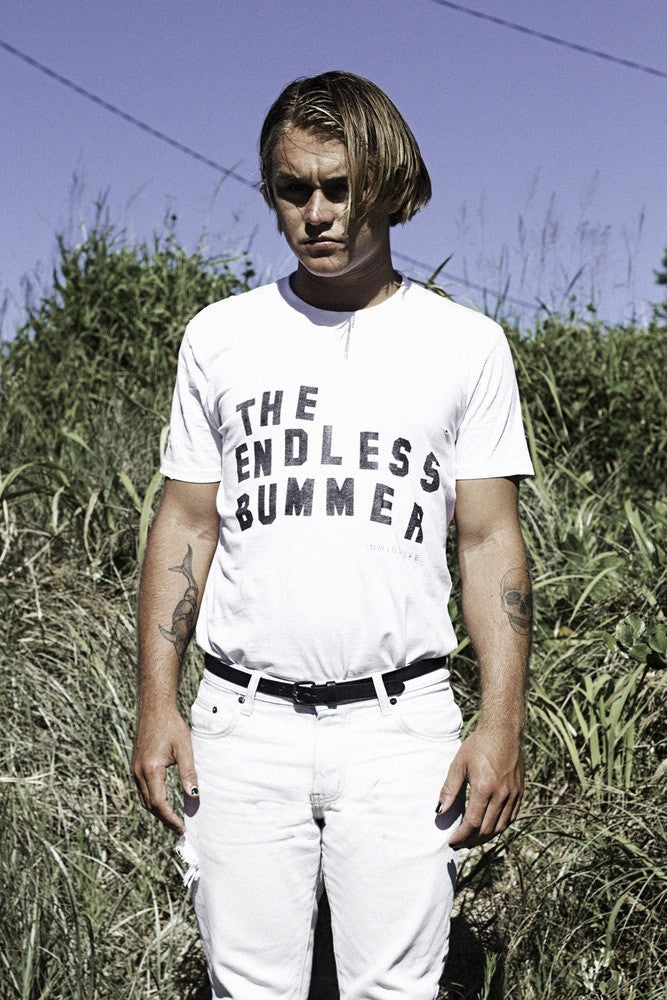 "the endless bummer tee / white ""unisex"""