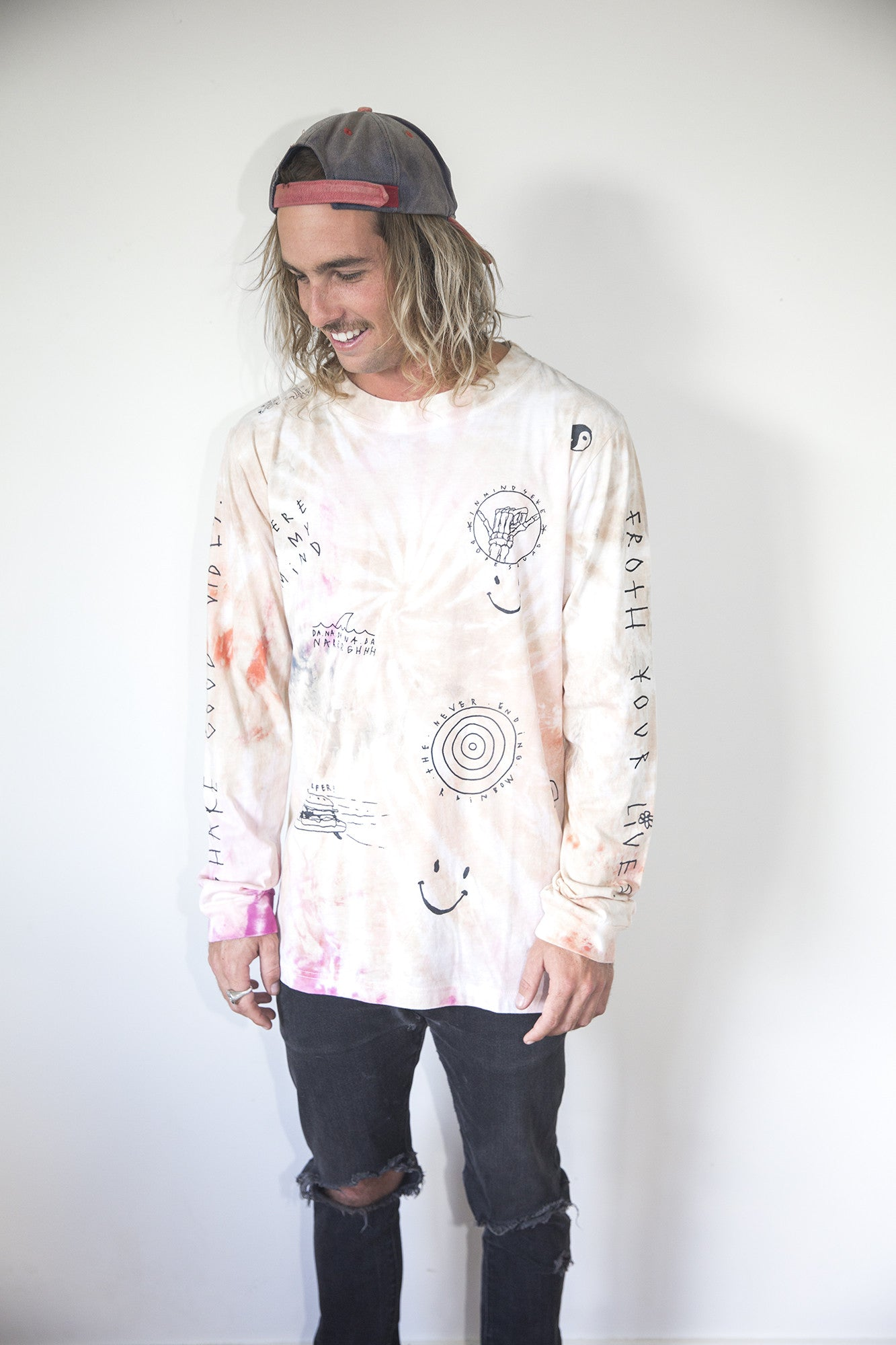 "share good vibes l/s tee ""tie dye"" unisex"