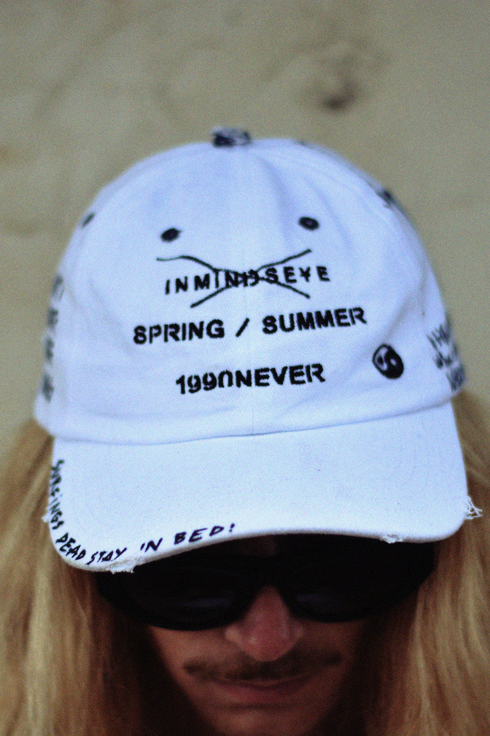 "anti surf surf gang cap / custom hat 1 of 1 ""white"""