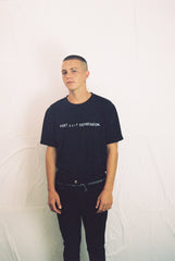 "post surf depression tee / band tee black ""unisex"""