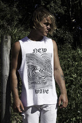 "new wave tank / white ""unisex"""