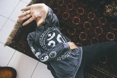 OM MY GOD tee / washed black