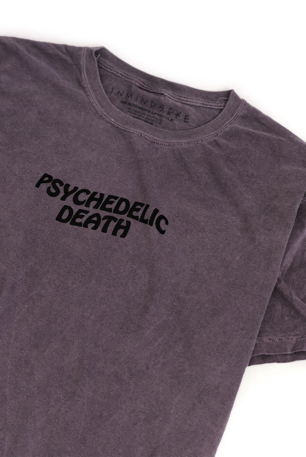 "PSYCHEDELIC DEATH tee ""overdyed wine"""