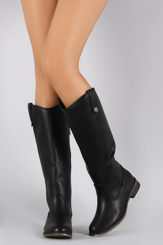 Breckelle Round Toe Riding Knee High Boot - Beauty & Bronze Clothing and Accessories