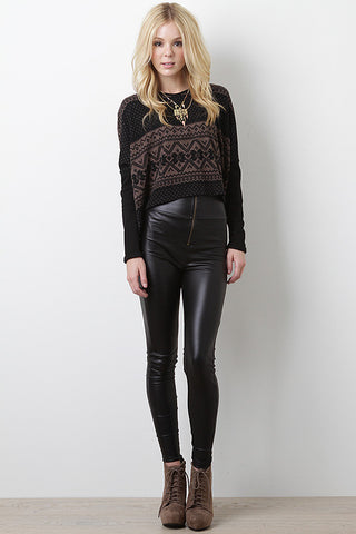Mysterious Silhouette High Waist Leggings - Beauty & Bronze Clothing and Accessories