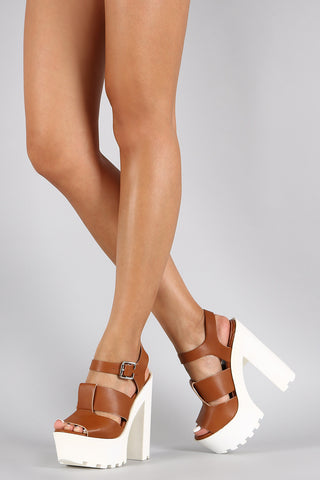 Wild Diva Lounge Lug Sole Platform Heel - Beauty & Bronze Clothing and Accessories