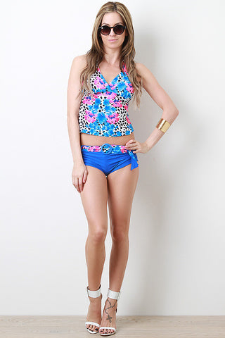Spotted Tropics Tankini Set - Beauty & Bronze Clothing and Accessories