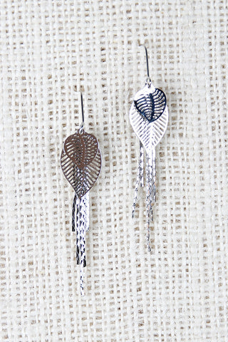 Leaf Layers Earrings - Beauty & Bronze Clothing and Accessories