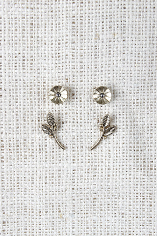 Deco Flower and Branch Earrings - Beauty & Bronze Clothing and Accessories