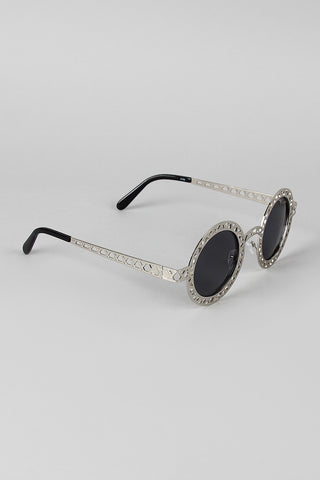 Lattice Round Eye Sunglasses - Beauty & Bronze Clothing and Accessories