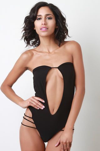 Strapless Keyhole Cage Bodysuit