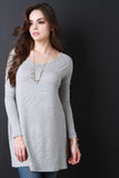 Boxy Long Sleeve Mini Dress - Beauty & Bronze Clothing and Accessories