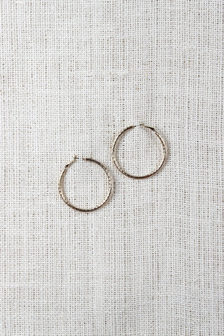 Texture Hoop Earrings - Beauty & Bronze Clothing and Accessories