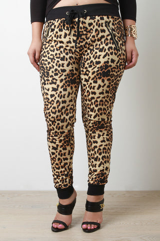 Leopard Print Jogger Pants - Beauty & Bronze Clothing and Accessories