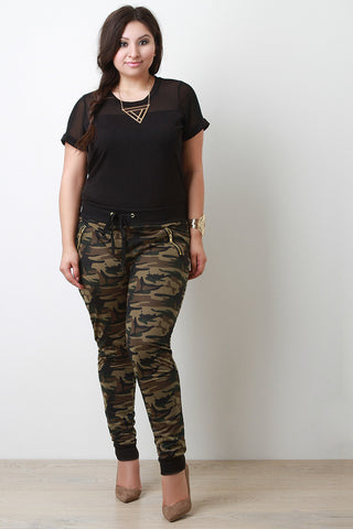 Camouflage Print Jogger Pants - Beauty & Bronze Clothing and Accessories