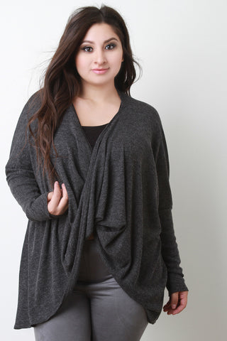 Draping Tulip Dolman Convertible Cardigan Top - Beauty & Bronze Clothing and Accessories