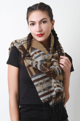 Diamond Tribal Print Scarf - Beauty & Bronze Clothing and Accessories