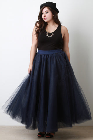 Fluffy Tulle Maxi Skirt - Beauty & Bronze Clothing and Accessories