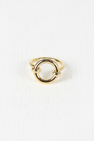 Open Circle Hardware Ring - Beauty & Bronze Clothing and Accessories