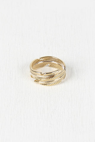 Leaf Wrap Ring - Beauty & Bronze Clothing and Accessories