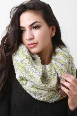 Condo Knit Fluff Infinity Scarf - Beauty & Bronze Clothing and Accessories