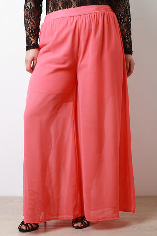 Chiffon Maxi Pants - Beauty & Bronze Clothing and Accessories