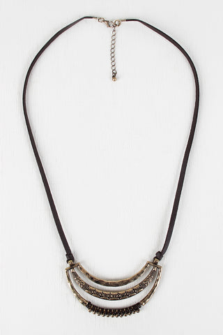 Bohemian Frame Pendant Necklace - Beauty & Bronze Clothing and Accessories