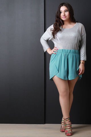 Flowy Petal Shorts - Beauty & Bronze Clothing and Accessories