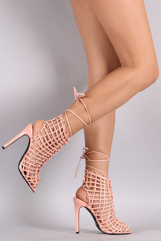 Privileged Webbed Laces Mule Heel - Beauty & Bronze Clothing and Accessories