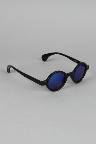 Horn Rim Mirrored Lens Sunglasses - Beauty & Bronze Clothing and Accessories