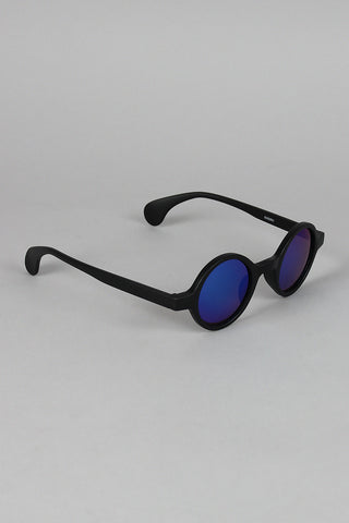 Matte Horn Rim Mirrored Sunglasses - Beauty & Bronze Clothing and Accessories