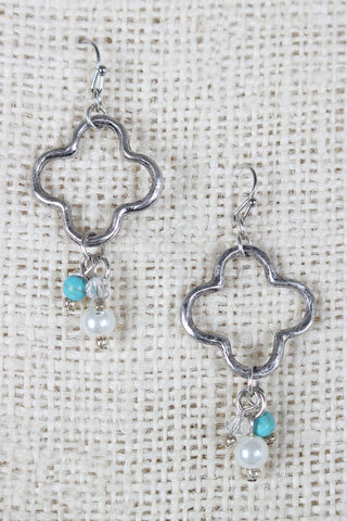 Quatrefoil Dangle Earrings - Beauty & Bronze Clothing and Accessories