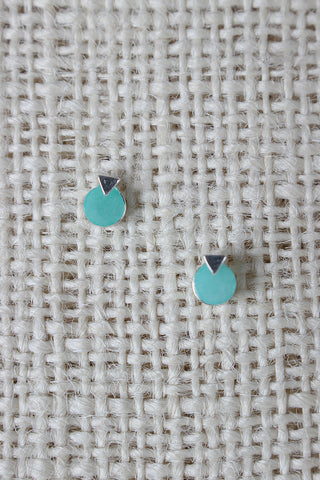Circle Arrow Layer Stud Earring - Beauty & Bronze Clothing and Accessories