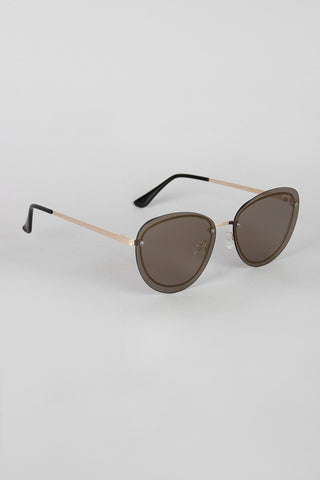 Back Rimmed Sport Sunglasses - Beauty & Bronze Clothing and Accessories