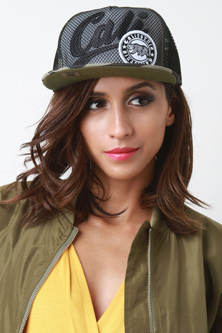 Mesh Overlay Cali Snapback Cap - Beauty & Bronze Clothing and Accessories